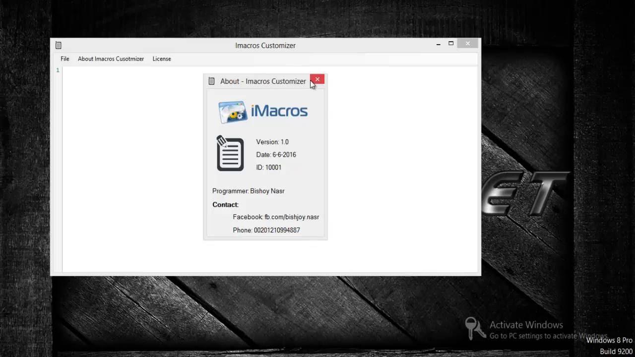 Imacros-Customizer tutorial