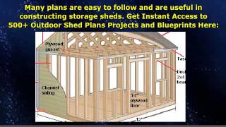 ★ Wood Storage Shed Building Plans Diy