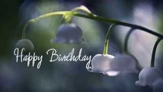BIRTHDAY BLESSINGS: lavish floral photos & prayerful poetic text