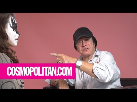 Gene Simmons Gives KISS Makeup Tutorial | Cosmopolitan