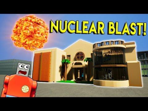 LEGO NUCLEAR BLAST LEVELS LEGO MANSION! -  Brick Rigs Gameplay Challenge - Lego City Destruction