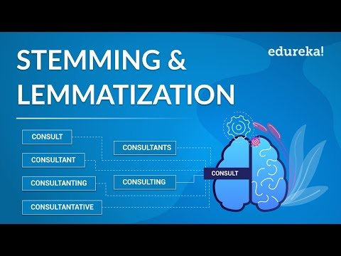 Stemming And Lemmatization Tutorial | Natural Language Processing (NLP) With Python | Edureka