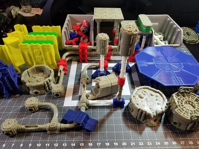 WarLayer 3D Printable Terrain: Orbital Drop Kickstarter Preview