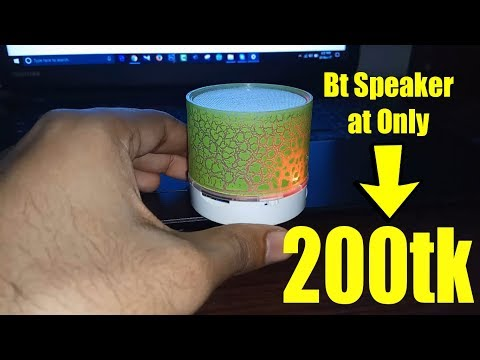 A9 LED Portable mini bluetooth speaker hands on review