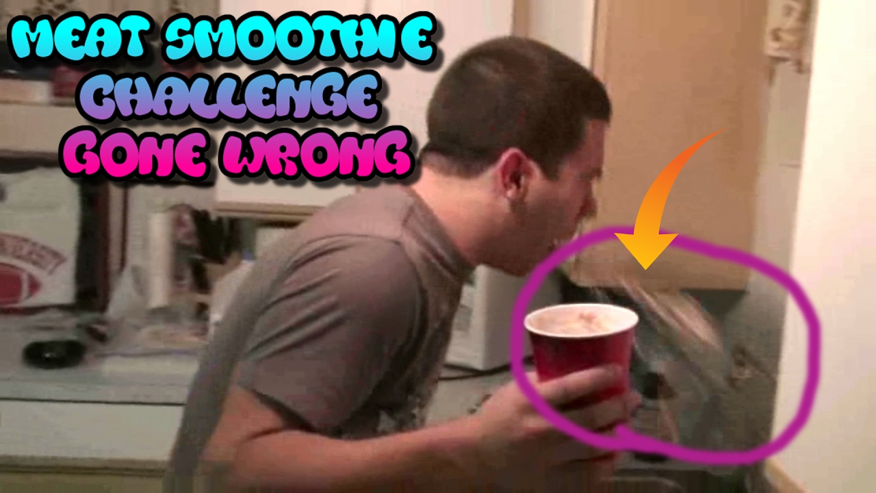 Drink A Meat Smoothie Challenge! (Gone Horribly Wrong!)