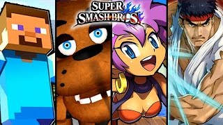 Super Smash Bros TOP 6 Fan-Made Trailers - Freddy Fazbear, Miku & More (Wii U)