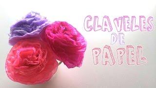 Cómo hacer flores de papel muy fácil│Candy Bu
