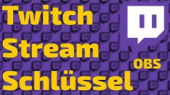 Twitch Stream Schlüssel finden | Twitch Tutorial | Stream Key