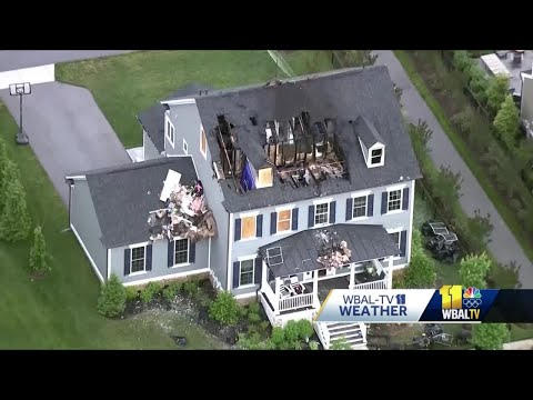 Extensive damage strewn across Maryland after thunderstorms