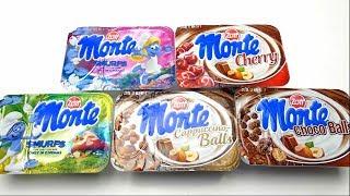 German Desserts - Monte Special Smurfs Cappuccino Balls Cherry and Choco Balls