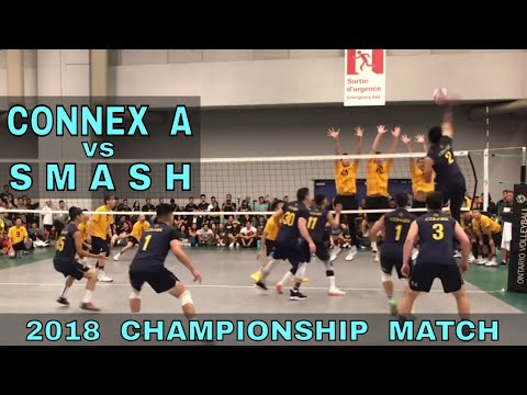 NACIVT 2018 Finals - Connex A vs Smash (9 Man Volleyball)