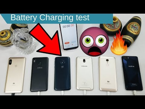 Battery DisCharging Test Moto G6 Play VS Realme 1 VS Redmi Note5 Vs J7 Pro VS  Hot S3 VS Note 5 Pro