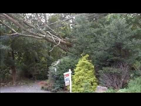 Hurricane Irene hits Airmont and Suffern New York August 28, 2011