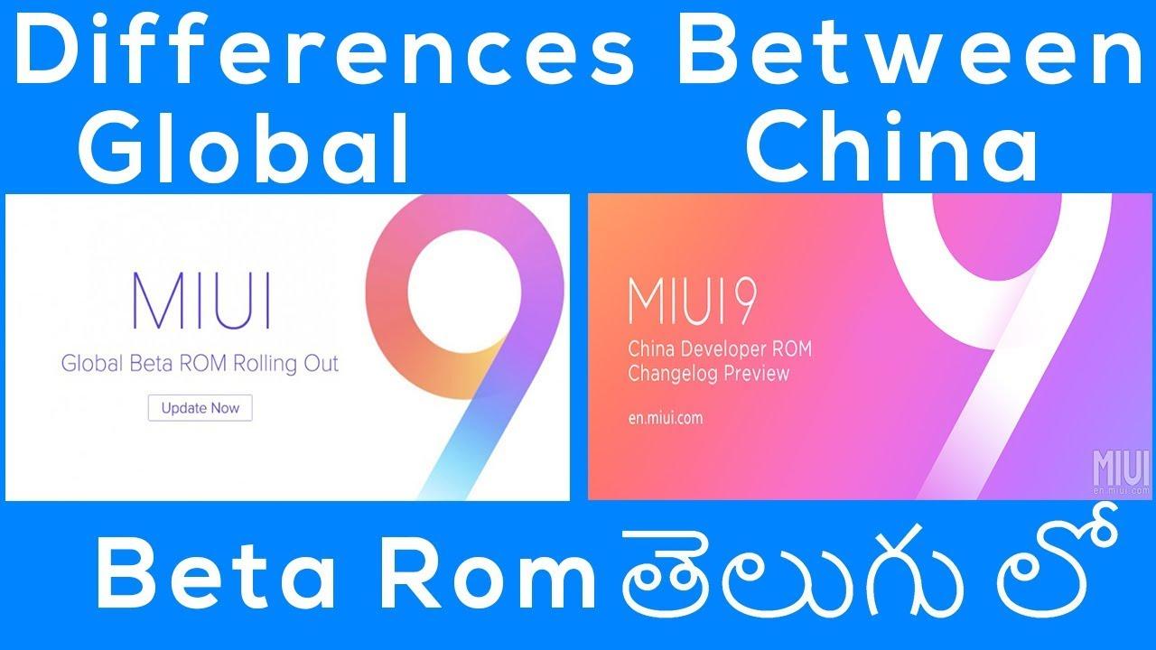 Differences Between MIUI Global Developer Rom Vs China Developer Rom -  Telugu Lo