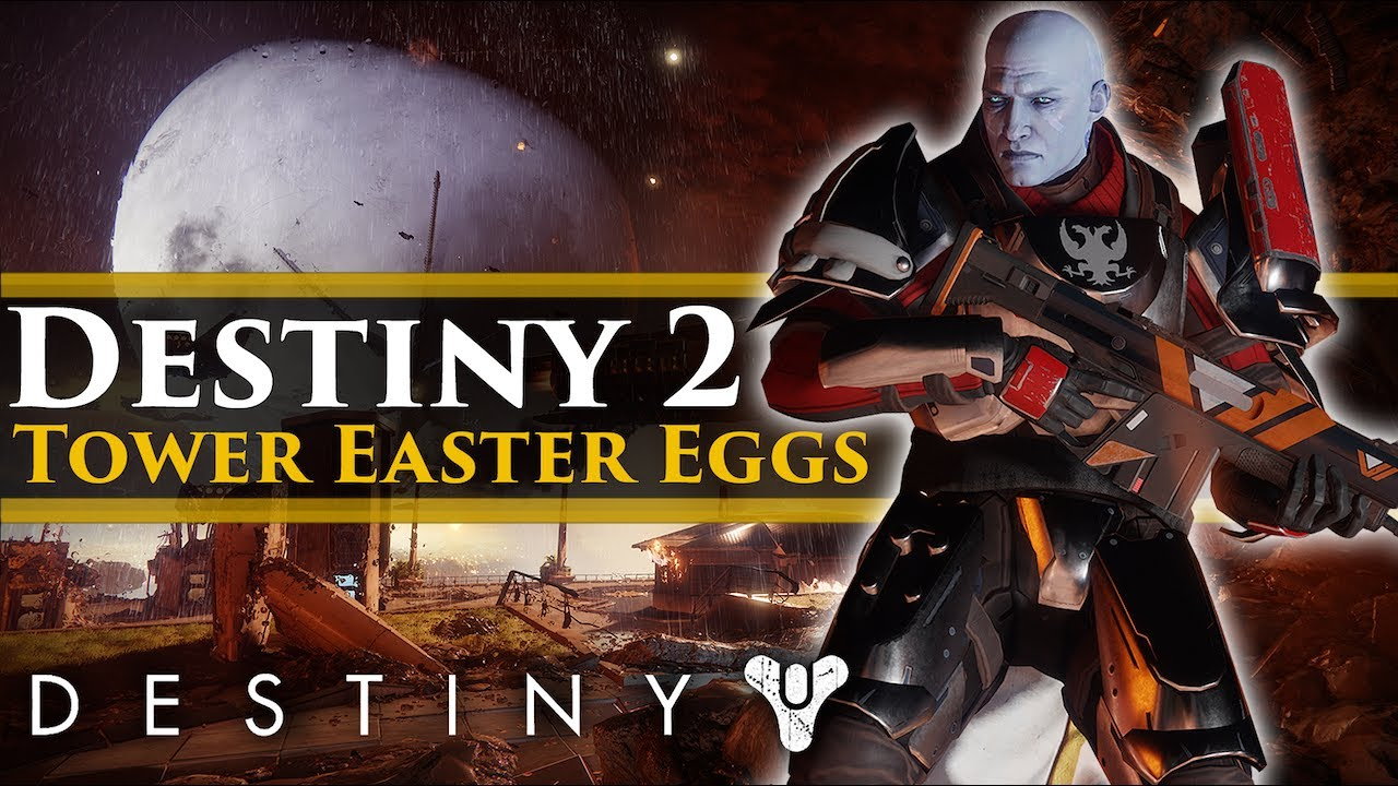 Destiny 2 - Exploring the Tower! Spicy Ramen & Sweeper bot easter eggs!