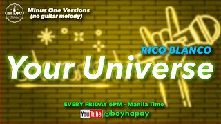Rico Blanco - Your Universe acoustic guitar minus one cover w/ lyrics