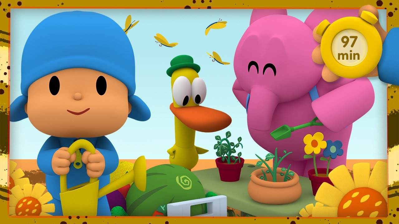 🍆 POCOYO AND NINA - Vegetables are good for me [97 min] ANIMATED CARTOON for Children |FULL episodes