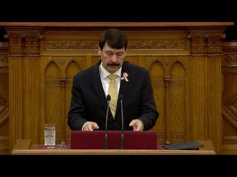 Köztársasági elnök választás a parlamentben: Áder János beszéde