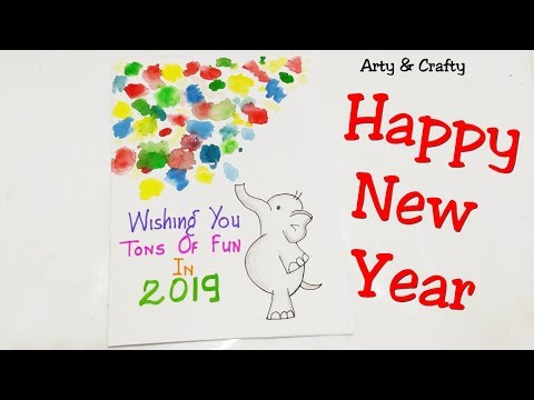 how to make new year card 2019handmade new year card for kidseasy
