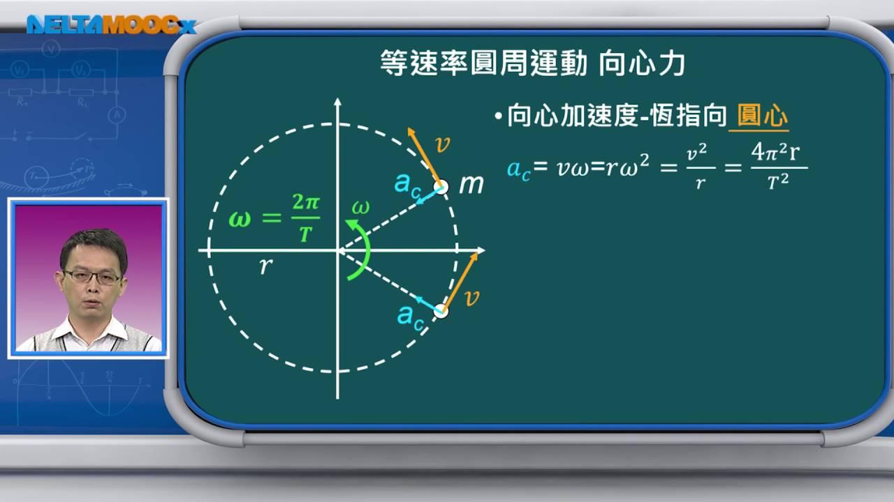 高中物理_圓周運動_等速圓周運動的數學方程速度與加速度_趙臨軒 - YouTube