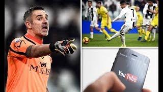 Cristiano Ronaldo penalty claim made byChievogoalkeeper Sorrentino   'I stud ied