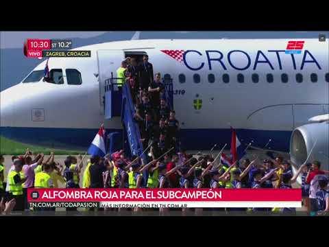 Así recibieron a Croacia tras el subcampeonato