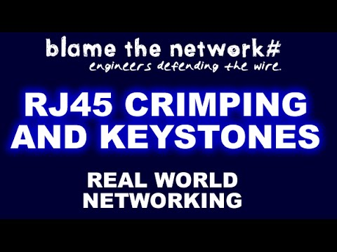 Crimping RJ45's and Using Keystones for networking