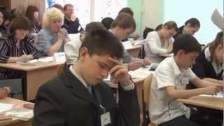 Учитель года 2012. Урок русского языка. Серебрянская