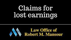 Santa Clarita CA personal injury lawyer discusses lost earnings