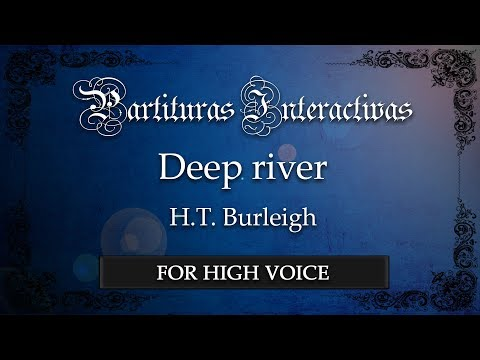 Deep river - H. T. Burleigh (Karaoke - Original Key: F major)