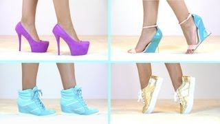 Spring & Summer Shoe Haul Shoe Collection! High Heels, Wedges, Sandals, Sneakers