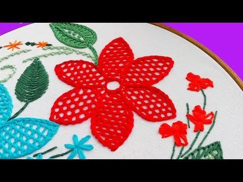 Embroidery: NET STITCH   Вышивка: Плетение иглой