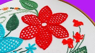 Embroidery: NET STITCH | Вышивка: Плетение иглой