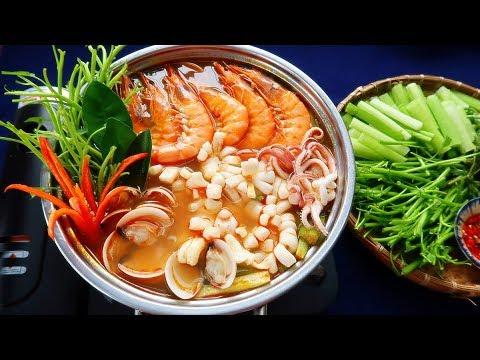 Món Ăn Ngon - LẨU THÁI HẢI SẢN chua cay thơm ngon đơn giản nhất