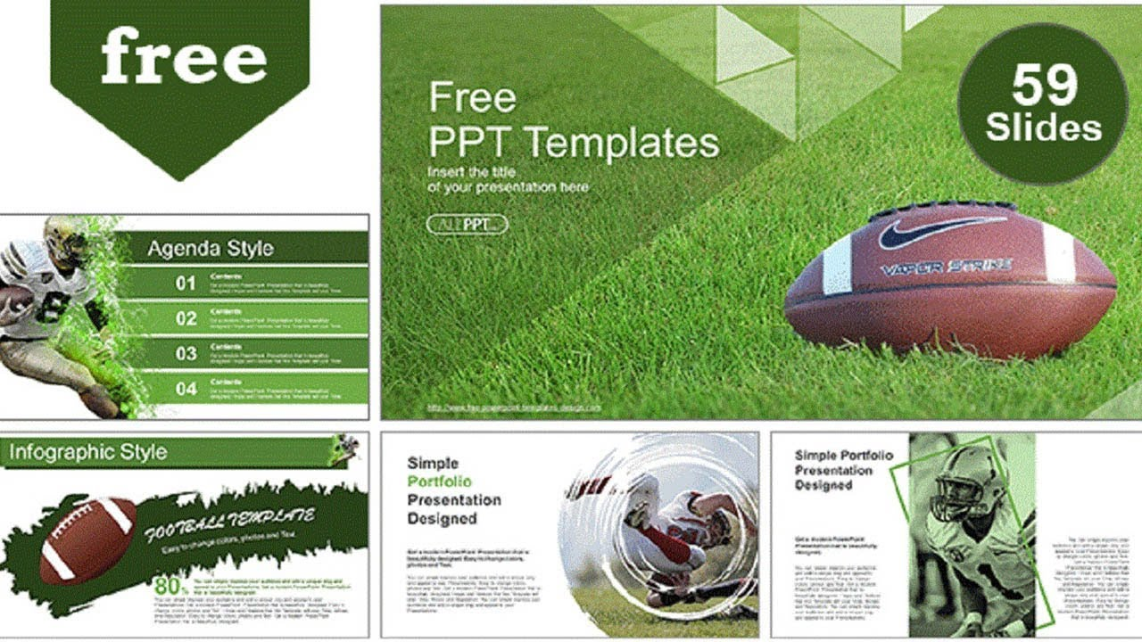 American Football Over Grass Powerpoint Templates Youtube