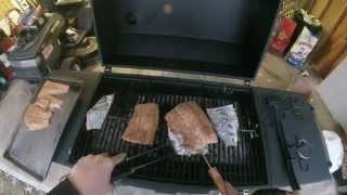 Grilled Syrup Glazed TroutSalmon Recipe