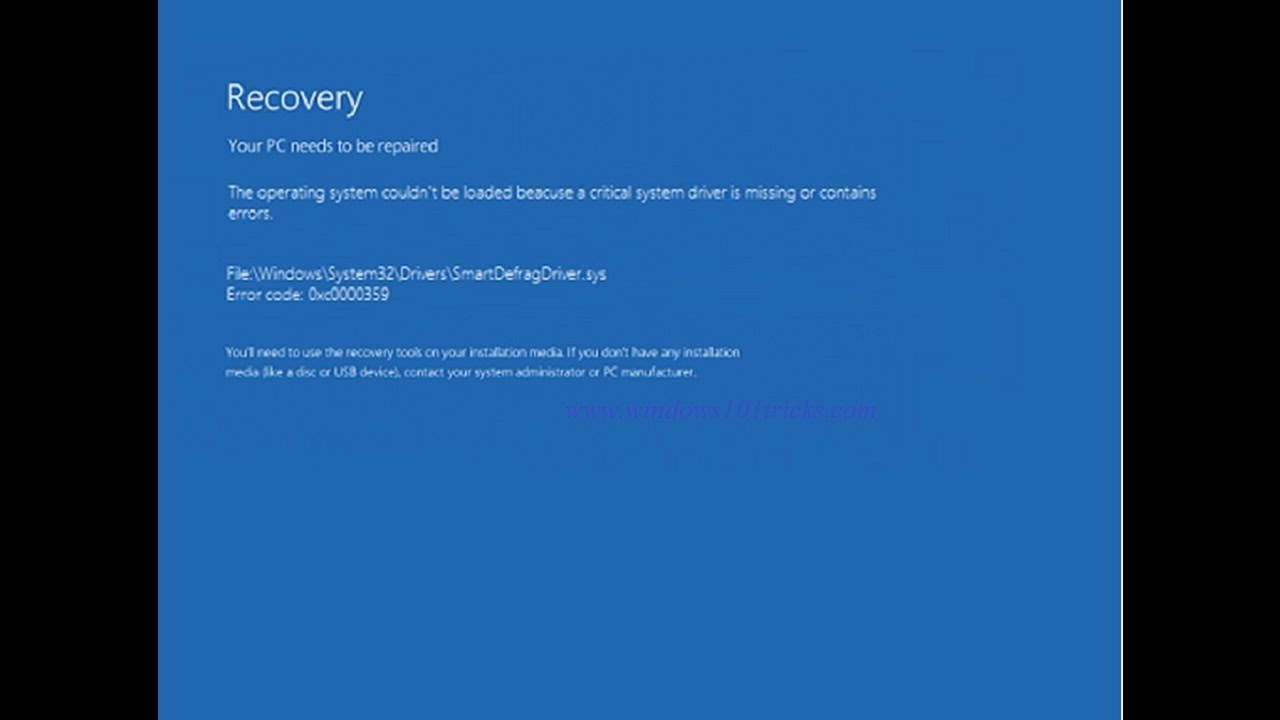 Fix blue screen of death (bsod) errors in windows 8.