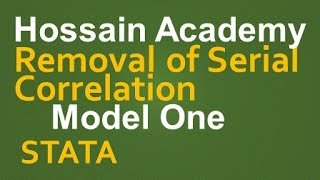 removal of serial correlation model one stata