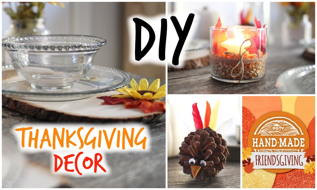 DIY Thanksgiving Decor! Cute & Affordable
