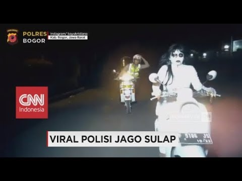Viral Polisi Jago Sulap Tilang Kuntilanak, Brigadir Bayu Kristiana