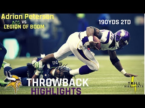 The Game Adrian Peterson Dominated The Legion of Boom | Throwback Highlights 11.04.2012