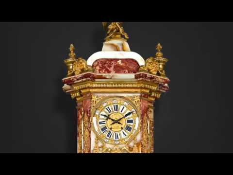 Napoleon III Onyx And Marble Longcase Clock from M.S. Rau Antiques