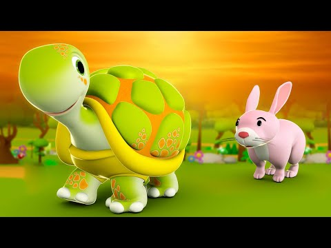 Rabbit and Tortoise 3D Animated Hindi Stories for Kids - Moral Stories खरगोश और कछुआ हिन्दी कहानी