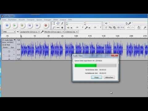 Audacity MP3 exportieren