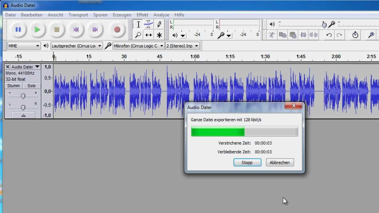 Audacity MP3 exportieren - YouTube