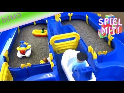 wasserbahn von big niagara waterplay demo review water toy spielen mit wasser spielzeug youtube. Black Bedroom Furniture Sets. Home Design Ideas