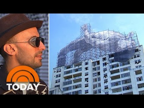 Meet 'JR,' The 'Semi-Anonymous' Street Artist Behind Rio's Massive Art Project | TODAY