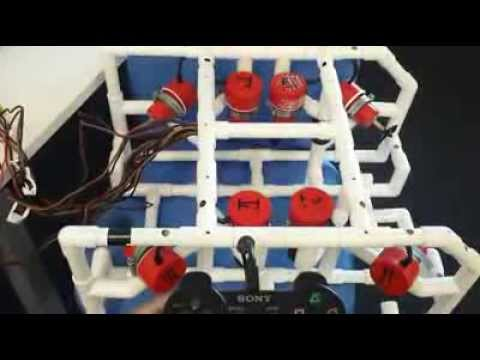RGU Subsea Robotics - Testing All Motors With PS3 Controller (2014)