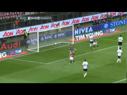 AC Milan vs Palermo 3-0 All goals &...
