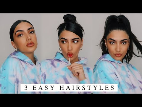 3 EASY HAIRSTYLES FOR GREASY HAIR (I got u girl) / HUGE GIVEAWAY!!!